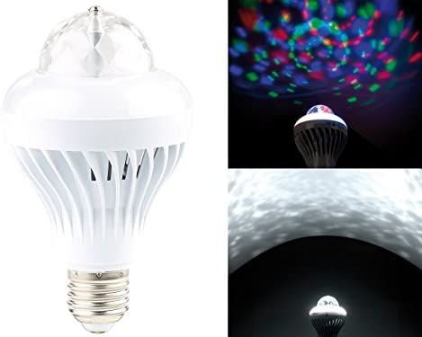 Rotierende 3 Farben LED Lampe Leuchte Licht Effekt Disco Party E27