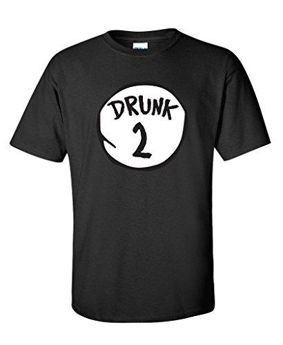 Drunk 2 Drinking Irish Beer College St Patricks Day T Shirt L Black