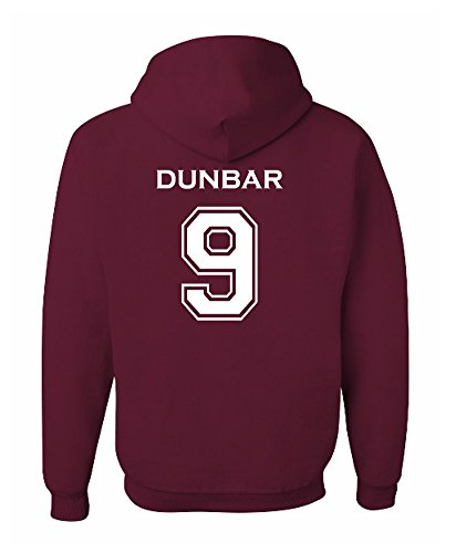 (Adult Dunbar 9 Beacon Hills Lacrosse 2-Sided Hoodie Small)