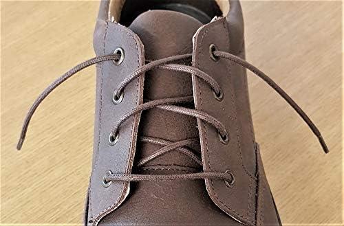 Lacets de Chaussures Fine Noir Ciré Coton 4 To 5 œillets 80 cm for Formal Shoes