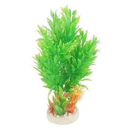 eDealMax 6.7 Verde Naranja simulación de árboles Pastos agua W Base Redonda de cerámica
