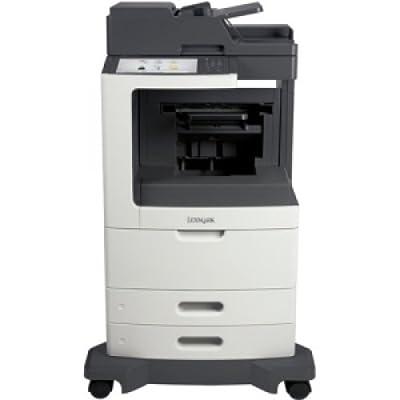 LEXMARK MX810DFE Laser Multifunction Printer - Monochrome / Copier/Fax/Printer/Scanner - 55 ppm Mono Print - 1200 x 1200 dpi Print - 55 cpm Mono Copy - Touchscreen - 600 dpi Optical Scan - Automatic Duplex Print - 1200 sheets Input - Gigabit Ethernet - US