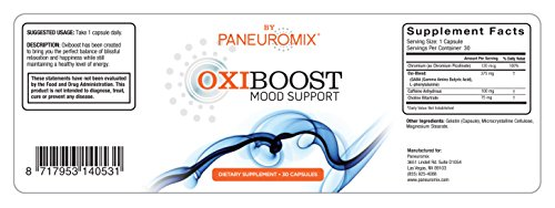 Oxiboost Oxytocin Support 100% Natural Mood Enhancer Anxiety Relief Mood Enhancing Supplements Supports natural Oxytocin release Can be used as Party Pills