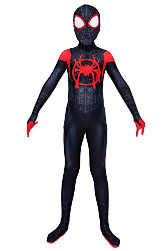 Piers Superhero Dress Up Costumes Spandex Kids Bodysuit Cosplay Jumpsuit Zentai, L Black -