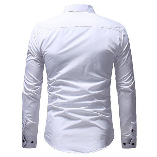Casual Longues Blanc Pull Haut Hiver Morchan À Hommes T shirt Automne Manches ❤ Chemisier qOw8UIH