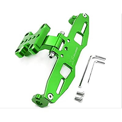 Motorcycle accessories Universal Fender Eliminator License Plate Holder For YAMAHA YZF-R1 R1 R3 R6 FZ1 FZ6 FZ8 XJ6 with LED Light-Green: Automotive