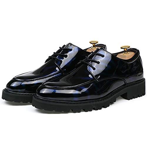 Black 41 Formales Antideslizantes Zapatos Casual Blue tamaño y Chic Jusheng Black Zapatos Color Oxford Transpirables Formal EU Oxford Hombre para Blue Oxford URqAfv