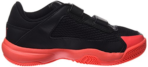 Jr Fitness Puma Indoor Coral black 5 Enfant fiery Nf Chaussures V Mixte Multicolore Evospeed De Bq8qw16X