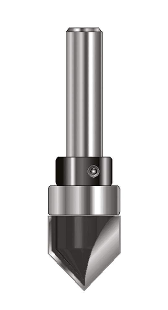ENT 12180 V-Nutfrä ser und Schriftenfrä ser HW (HM), Schaft (C) 8 mm, Durchmesser (A) 12 mm, B 12 mm, E 90° , D 32 mm, mit Kugellager ENT European Norm Tools