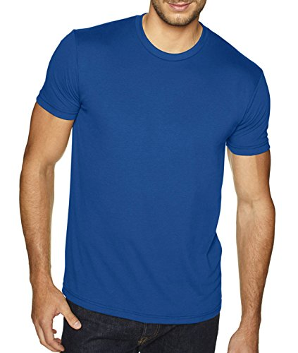 Next Level Men's Premium Fitted Sueded Crew, Cool Blue, (Cool Fitted T-shirt)