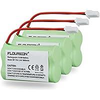 FLOUREON 3-Pack 2.4V 1800mAh Ni-MH Cordless Phone Batteries for Sony BP-T50 AT&T: 50, 91301 Vtech BT175242 BT-175242 BT275242 BT-275242