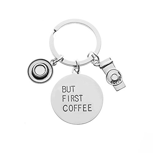 Infinity Collection Coffee Cup Charm Keychain, But First Coffee Jewelry, Coffee Lovers Gifts for Women