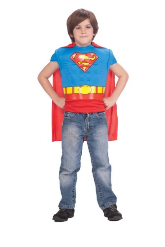 Superman DC Comics Muscle Chest Shirt Child (Lois Lane Halloween Costumes)