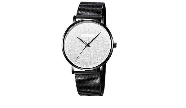 Zuionk Moda Hombres Mujeres Reloj Super Fino Reloj de Cuarzo