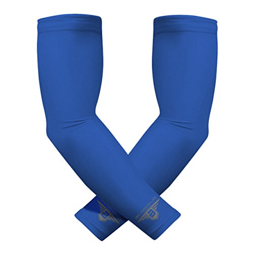 - Bucwild Sports Compression Arm Sleeves (Pair) Youth & Adult Sizes Football, Baseball, Basketball, Cycling, Tennis Royal Blue Adult Small