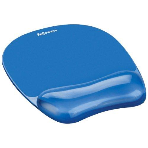 Fellowes Gel Crystal Mousepad/Wrist Rest, Blue (91141) Color: Blue