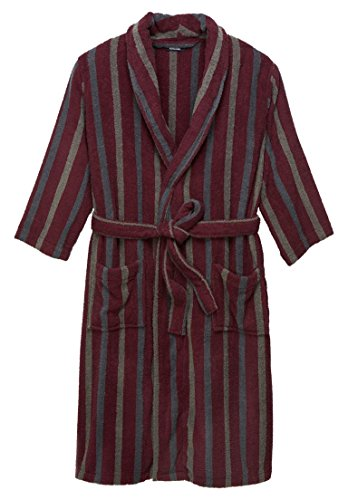 KingSize Men's Big & Tall Terry Bathrobe with Pockets, Deep Burgundy Stripe Big And Tall Cotton Sweater