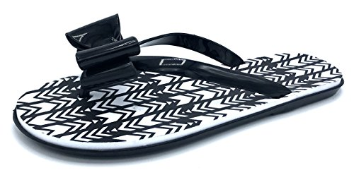 Flip Ladies Flops Patent and Chatties Black Bow Thong Tie Print Tribal Aq0dTn6R