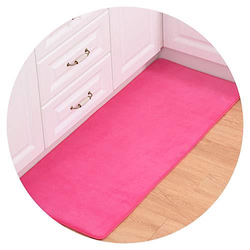 Home Decor Solid Bathroom Carpets Area Rug for Living Room Non-Slip Floor Mats Bedside Mats,Rose,80X120cm
