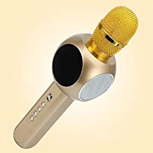 Sing sing artifact mobile phone microphone universal wireless Bluetooth microphone household karaoke wheat(GOLD)