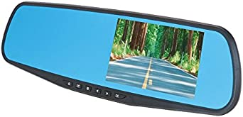 DS18 Eagle Rearview Mirror with 4.3 HD LCD Display Built-in 1080P Dash Cam Recorder Reverse Camera