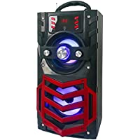 QFX BT-170RD Portable Bluetooth Speaker with FM Radio - Red