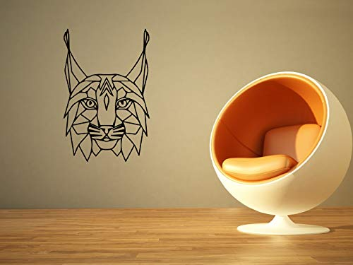 Vinyl Sticker Lynx Cat Predator Animal Geometry Design Tattoo Mural Decal Wall Art Decor EH1226