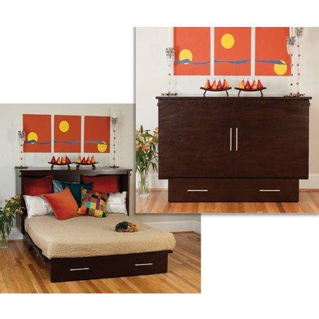 Arason Enterprises Creden-ZzZ Cabinet Bed in Original Coffee-Queen Size - Queen Size