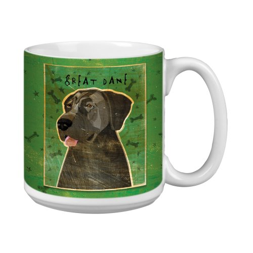 Tree-Free Greetings XM28070 John W. Golden Artful Jumbo Mug, 20-Ounce, Blue Great Dane-No (Great Dane Merchandise)