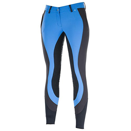 Horze Kiana Women's Full Seat Breeches Green Blue/Dark Blue 28 ()