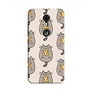 Cover It Up Pizza Cat Hard Case For Gionee A1 - Multi Color