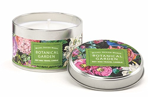 Michel Design Works Soy Wax Candle, Travel Tin Size, Botanical Garden