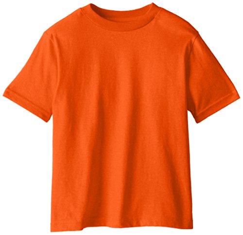 Soffe Little Boys' Pro Weight Short Sleeve Tee, Orange, Small/4