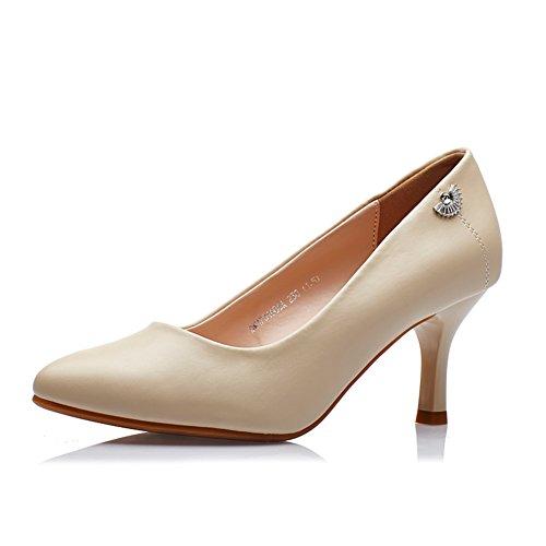 PUMPS Damen High Heels,Schuhe mit Einem Spitzen Fuß-B Fußlänge=22.3CM(8.8Inch)