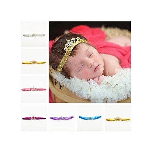 Newborn Baby Princess Crystal Crown headband Tiara Hairband Photography Props JA25