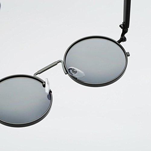y polarizadas sol para redondo mujers hombres Gusspower inspirado estilo de retro metálico A gafas Steampunk círculo xUvaxOf