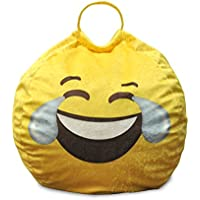 Emoji Pals Tears of Gladness Bean Bag with Handle, Yellow, 55