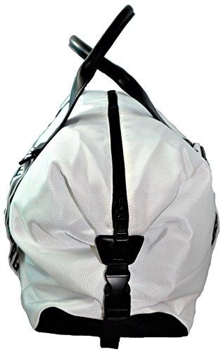 Borsa Borsone Tracolla Unisex Bianco Bikkembergs Bag Unisex White Db-Strap 2.0 Duffle