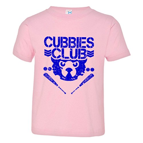 Chicago Cubs Clubhouse - PleaseMeTees Toddler Cubbies Baseball Club Wrigley Chicago HQ Tee-Pink-4
