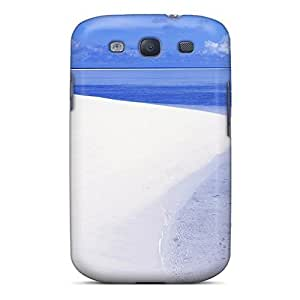 WonderwallOasis Hard Hard For SamSung Galaxy S5 Case Cover - Pure White Sy Beach