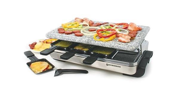Amazon.com: Swissmar Raclette, KF-77080 Stelvio, parrilla ...