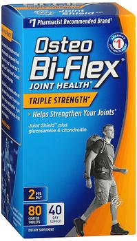 Osteo Bi-Flex Joint Health Coated Tablets Triple Strength - 80ct, Pack of 4