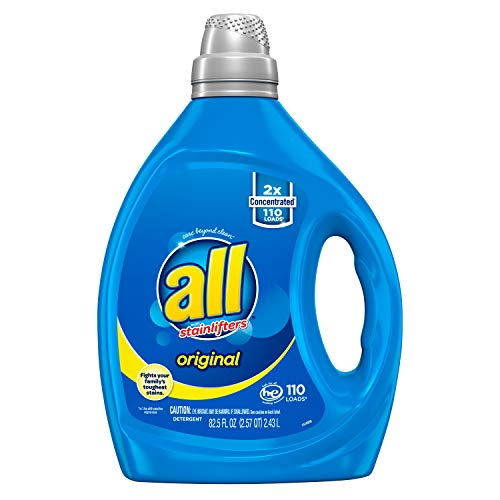 All Liquid Laundry Detergent Stainlifter Fights Tough Stains, 2X Concentrated, 82.5 Fluid Ounce