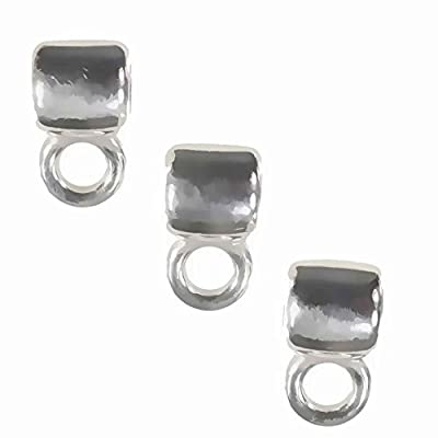 Sterling Silver Tube Slide Bail with Ring 8mm (3) by uGems