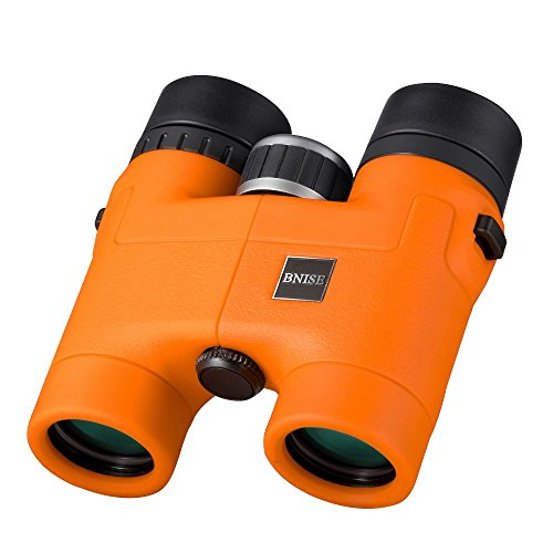 BNISE - 8X32 Compact Binoculars for Bird Watching - Lightweight Magnesium Alloy Body - FMC Optics and Phase Coated BaK-4 Prisms - Bright and Undistorted Image - Orange (Lightweight Magnesium Body)