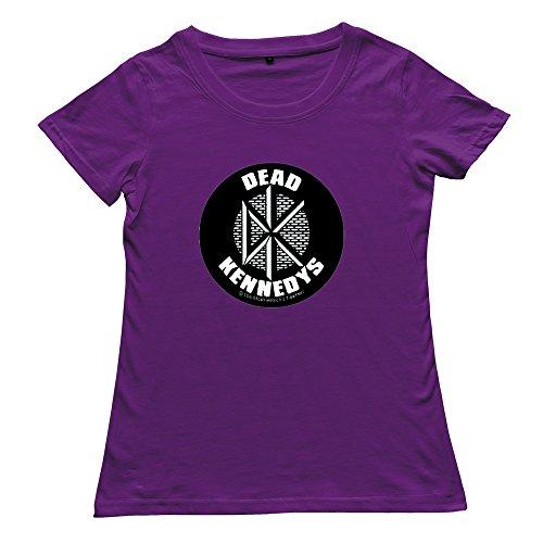 Goldfish Women's Nerd Blank Dead Kennedys T-Shirt Purple US Size M
