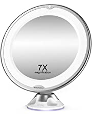BEAUTURAL 7X Magnifying LED Lighted Makeup Mirror 0.94 pounds
