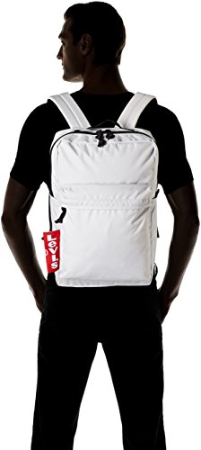 Levis The Levis® L Pack Big Tab - Borse a spalla Uomo, Bianco (Noir Regular White), 12x29x45 cm (W x H L)