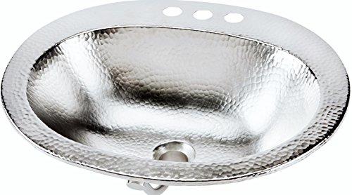 Buy Cheap Sinkology BOD-0903BRN Dalton Drop-in Handcrafted Bathroom Sink, 20, Hammered Nickel