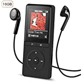 MP3 Player, AGPTEK A20S 16GB Music Player with FM Radio/Voice Recorder,70 Hours & Expandable up to 64GB,Comes with Volume Control Headphone, Portable for Sport